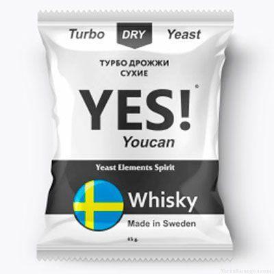 Спиртовые турбо дрожжи YES! YouCan Whisky, 45 г