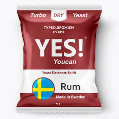 Спиртовые турбо дрожжи YES! YouCan Rum, 45 г