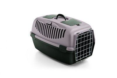 Переноска Stefanplast Gulliver 2 пудровая до 8 кг с металлической дверкой 55х36х35см для кошек и собак