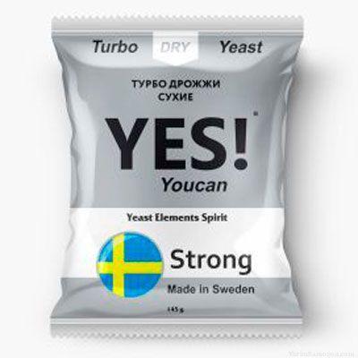 Спиртовые турбо дрожжи YES! YouCan Strong, 145 г