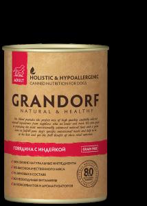 ГРАНДОРФ Говядина и Индейка (GRANDORF Beef & Turkey) 400г.