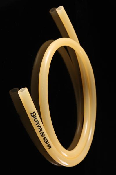 Шланг силиконовый Kaya прозрачный с логотипом (оранжевый)