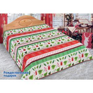 Покрывало «Рождественнский подарок», размер 180х220см, микрофибра