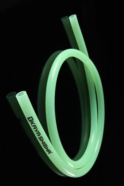 Шланг силиконовый Kaya прозрачный с логотипом (зеленый)