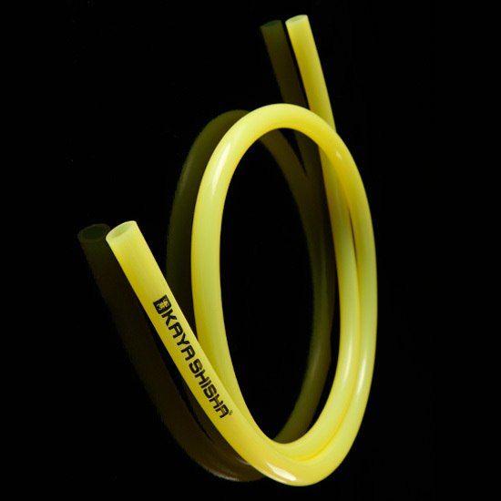 Шланг силиконовый Kaya прозрачный с логотипом (желтый)