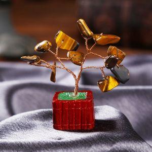 """Сувенир бонсай """"Денежное дерево с тигровым кристаллами"""" 12 шт 8х3х3,2 см   4304102"""