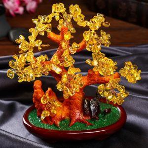 """Сувенир бонсай """"Янтарное денежное дерево"""" 252 камня 25х22х11 см   4304093"""
