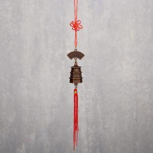 """Колокольчик металл """"Пагода"""" d=2,5 см 22х4х2,5 см   4295798"""