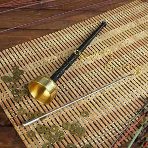"""Сувенир металл """"Колокол"""" с молоточком на цепочке 26,5х5х5 см 2319856"""