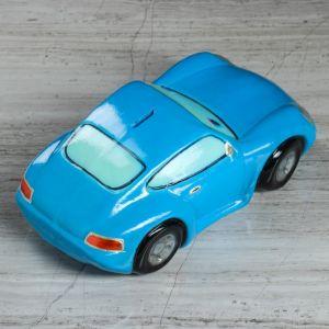 """Копилка """"Мультяшная машинка"""", глянец, цвет синий, 10 см"""