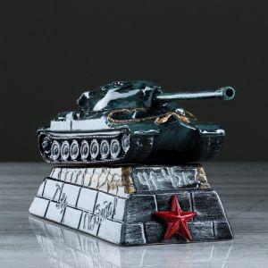 """Копилка """"Танк ИС-7"""", глазурь, разноцветная, 16 см"""