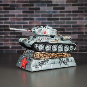 """Копилка """"Танк Т-34"""", серая, 15 см"""