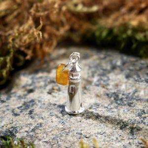"""Брелок-талисман """"Маяк"""", натуральный янтарь, посеребрение 5088726"""