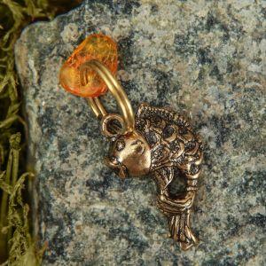 """Брелок-талисман """"Рыбка"""", натуральный янтарь 3613263"""