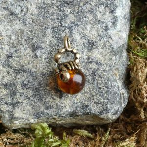 "Брелок-талисман ""Скорпион"", натуральный янтарь 4263760"