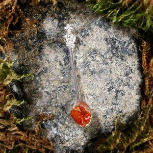 """Брелок-талисман """"Царская ложка"""", натуральный янтарь, посеребрение 5088733"""