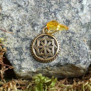 Брелок-талисман, натуральный янтарь 4263751