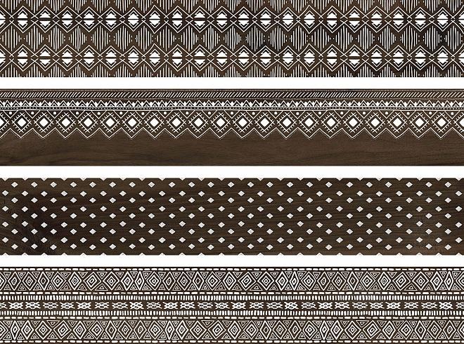 DL550400R | Про Вуд коричневый декорированный обрезной