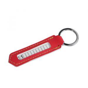 Брелок для ключей с номером телефона, кожа PU, оранжевый 4310299