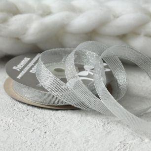 Лента с люрексом 12 мм, серебряная