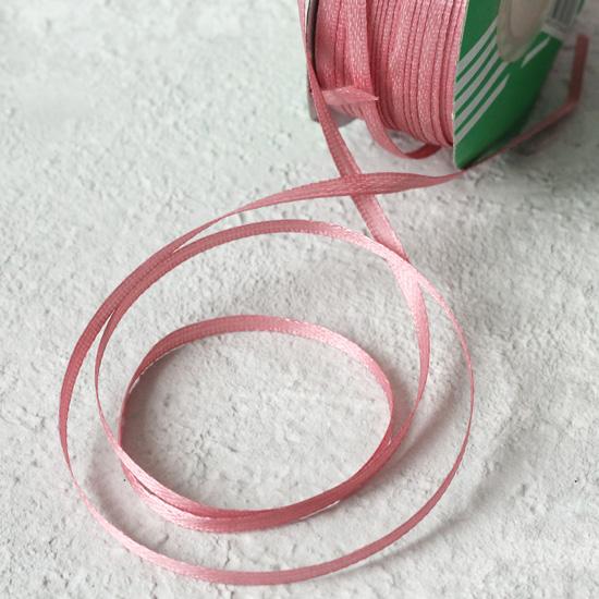 Лента атласная 3 мм, пыльная роза