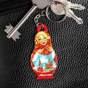 Брелок в форме матрёшки «Москва. Кремль»