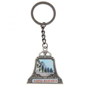 Брелок в форме колокола «Ханты-Мансийск», под серебро