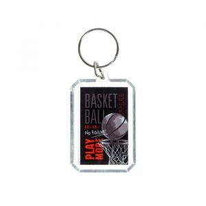 """Брелок """"Баскетбол"""" прямоугольный, 4,5 см 4910107"""