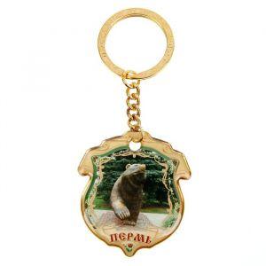 Брелок двусторонний «Пермь. Медведь»