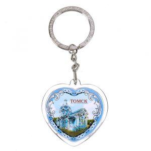 Брелок в форме сердца «Томск»