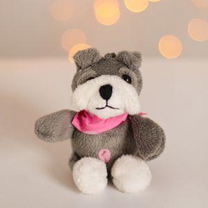 Мягкая игрушка-брелок «Собачка в платке», в коробочке