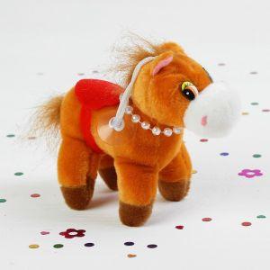 Мягкая игрушка-присоска «Лошадь с бусинками», цвета МИКС