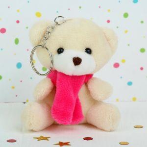Мягкая игрушка-брелок «Мишка в шарфе», цвета МИКС