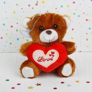 Мягкая игрушка-присоска «Мишка», с сердцем, цвета МИКС