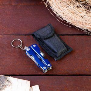 Инструмент многофункциональный 6в1 с фонариком, рукоять глянцевая, цвета МИКС 1154184