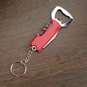 Нож многофункциональный 3в1, рукоять красная 257034
