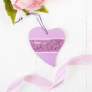 "Подвеска ""Розовое сердце"""