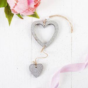 Подвеска «Серебряное сердце», с подвесом-сердечком