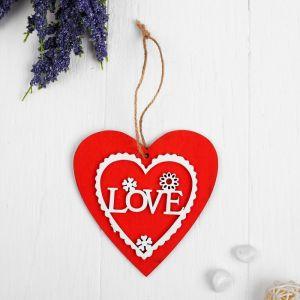 """Подвеска деревянная  """"Любовь""""   3949379"""