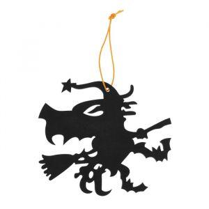 Подвеска резная «Ведьма на метле»