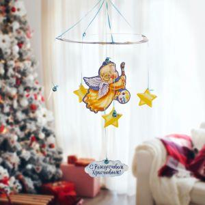 Рождественская подвеска «Ангелочек с красками»