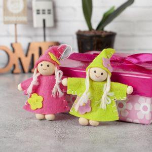 Игрушка - подвеска «Девочка в платьице», цвета МИКС