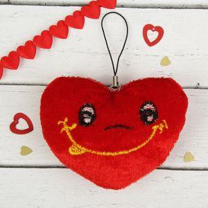 Мягкая игрушка-подвеска «Сердце с улыбкой», набор 12 шт.