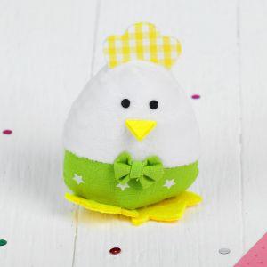 Мягкая игрушка-подвеска «Птенчик», с бантиком, цвета МИКС