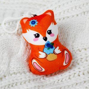 Мягкая игрушка «Лисичка», на подвеске