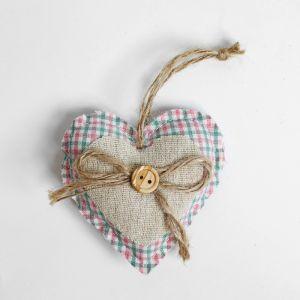 Мягкая игрушка-подвеска «Сердечко», с пуговкой и бантиком, цвета МИКС