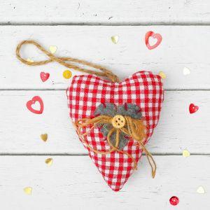 Мягкая игрушка-подвеска «Сердце», бантик с пуговкой, цвета МИКС