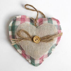 Мягкая игрушка-подвеска «Сердце», с пуговкой и бантиком, цвета МИКС