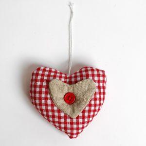 Мягкая игрушка-подвеска «Сердце», с пуговкой, цвета МИКС