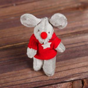 Мягкая игрушка-брелок «Серый мышонок», одежда МИКС